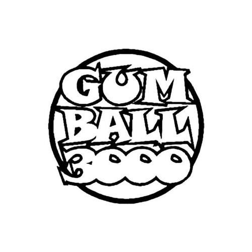 Gumball 3000 S Decal