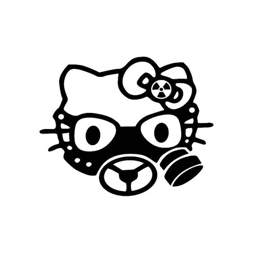 Hello Kitty Gas Mask Jdm Jdm S Decal