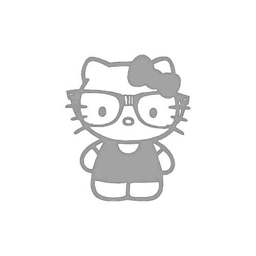 Hello Kitty Nerd Decal