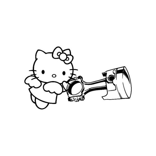Hello Kitty Piston Jdm Jdm S Decal