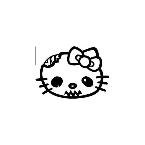 Hello Kitty Head 2 Decal