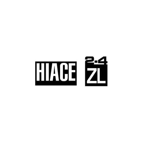 Hiace 2.4 Zl Decal