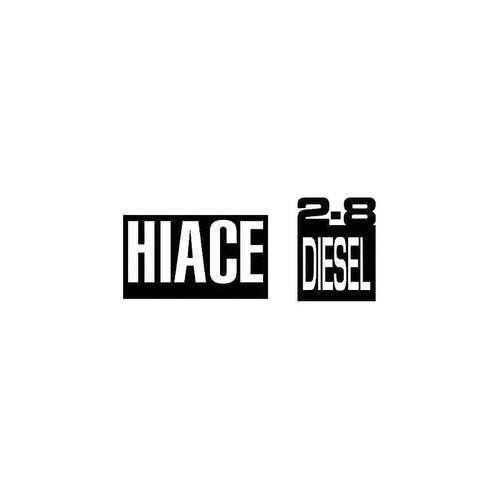 Hiace 2.8 Diesel Decal