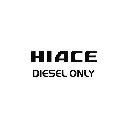 Hiace Diesel Decal
