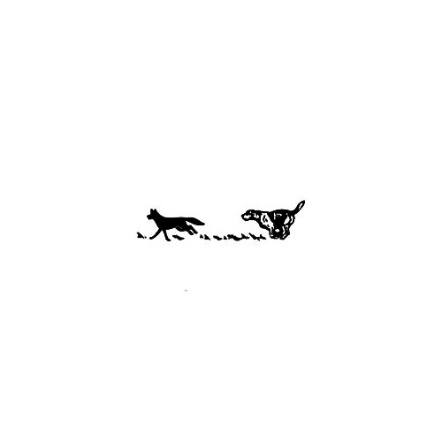 Coyote Hunting Dog 01 Vinyl Decal