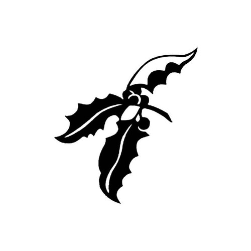 Holly Tree Branch S Decal