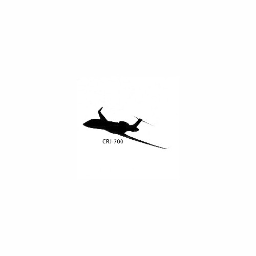 Aircraft CRJ 700 Decal Size option will determine the size from the longest side Industry standard high performance calendared vinyl film Cut from Oracle 651 2.5 mil Outdoor durability is 7 years Glossy surface finish