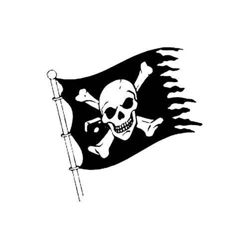 Jolly Roger B S Decal
