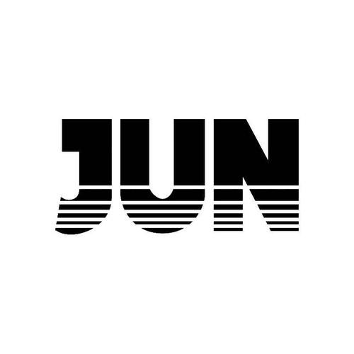 Jun Logo Jdm Decal