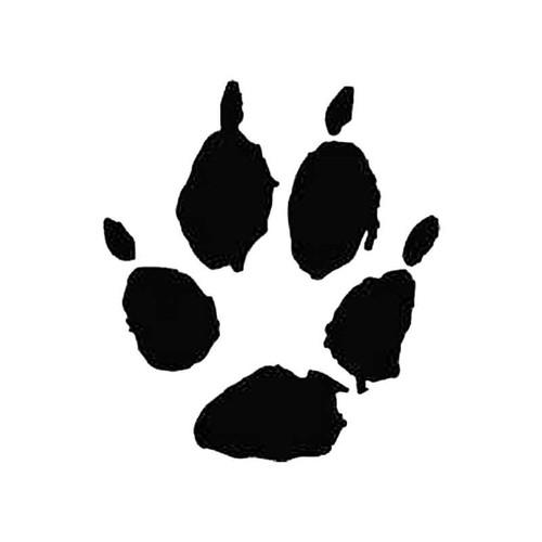 Kit Fox Paw Print Tracks S Decal