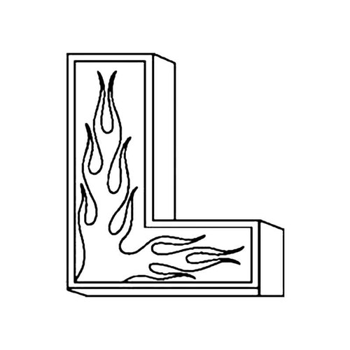 L Flames Letter S Decal