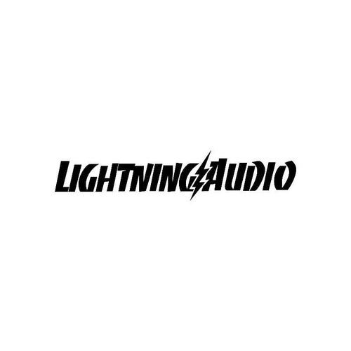 Lightning Audio Logo Jdm Decal