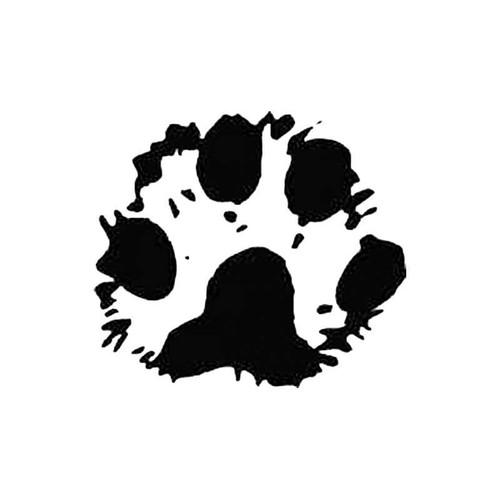 Lynx Paw Print Tracks S Decal
