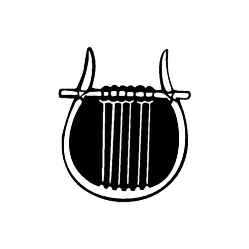 Lyre B S Decal