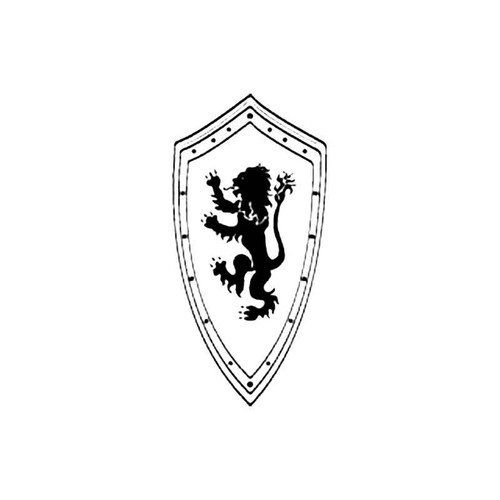 Medieval Shield S Decal