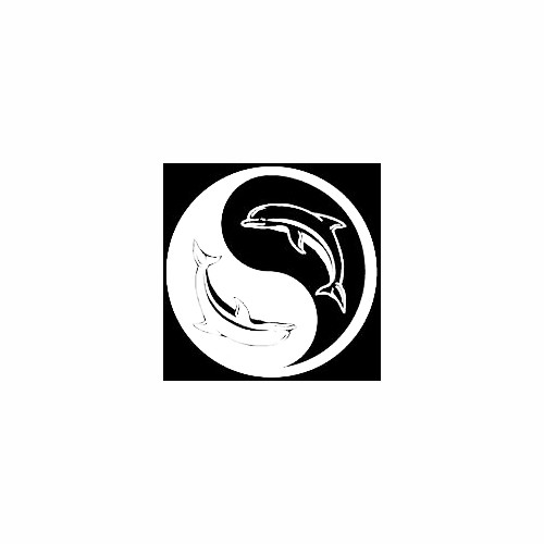 Dolphins Yin Yang Window Decal Size option will determine the size from the longest side Industry standard high performance calendared vinyl film Cut from Oracle 651 2.5 mil Outdoor durability is 7 years Glossy surface finish