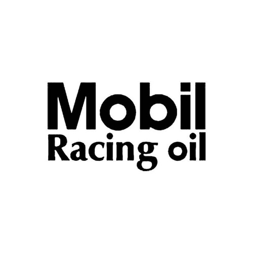 Mobil Racing Oil S Decal