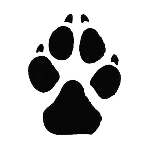 Mongrel Dog Paw Print Tracks S Decal