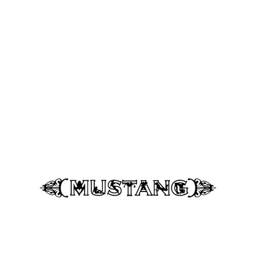 Mustang Sexy Logo Jdm Decal