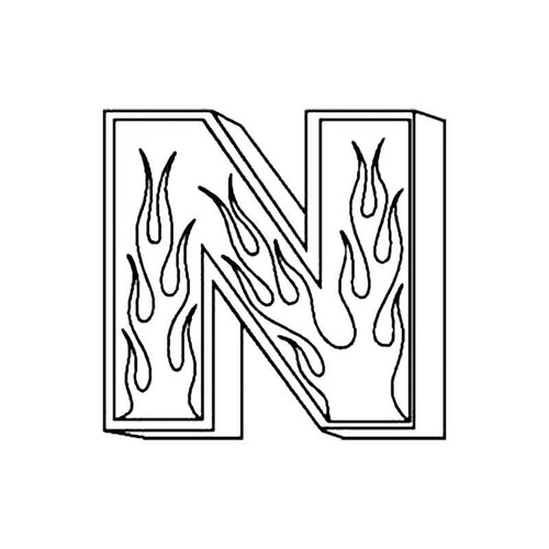 N Flames Letter S Decal