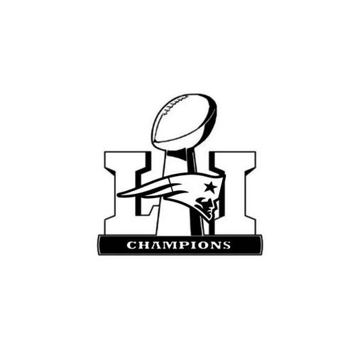 Nfl Super Bowl Li New England Patriots Champions Decal