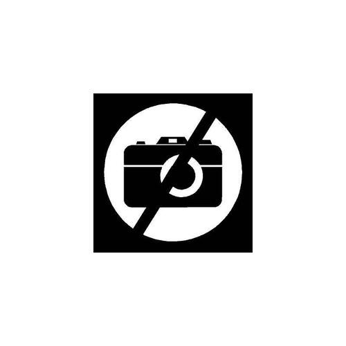 No Cameras Bold Decal