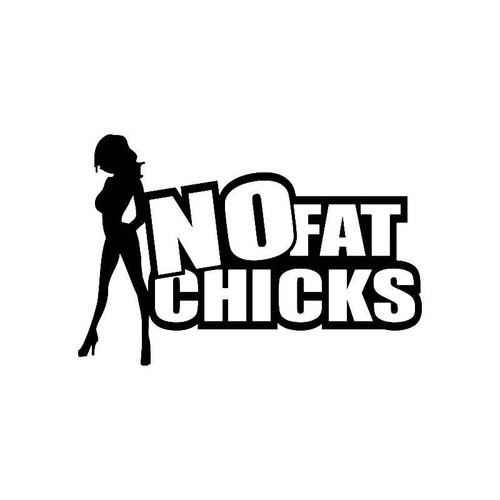 No Fat Chicks 3 Jdm Jdm S Decal