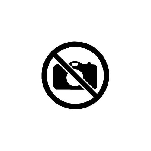 No Photos Decal