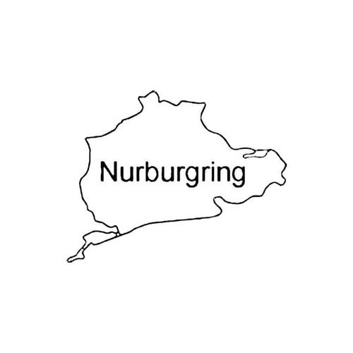 Nurburgring Curcuit Racetrack S Decal