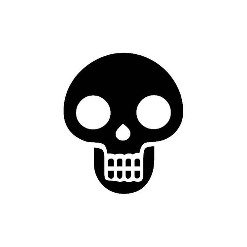 Open Eyes Skull Decal