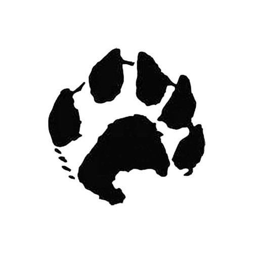 Otter Paw Print Tracks S Decal