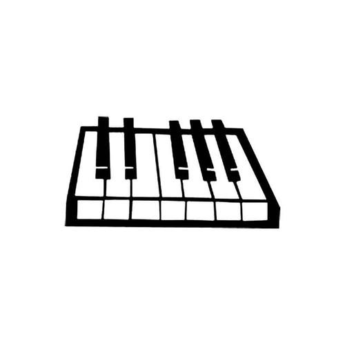 Piano Keyboard S Decal