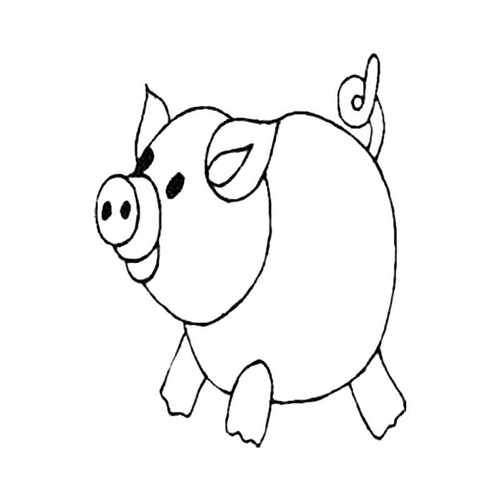 Pig With A Curly Tail S Decal