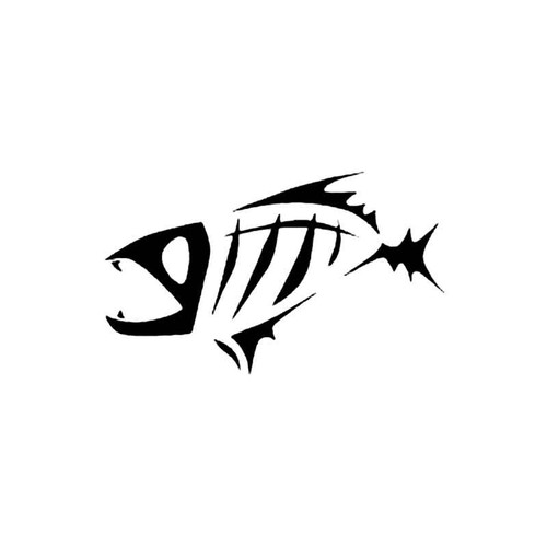 Piranha Tribal Fish Skeleton S Decal