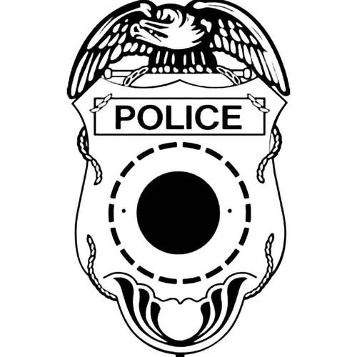 Police Shield B S Decal