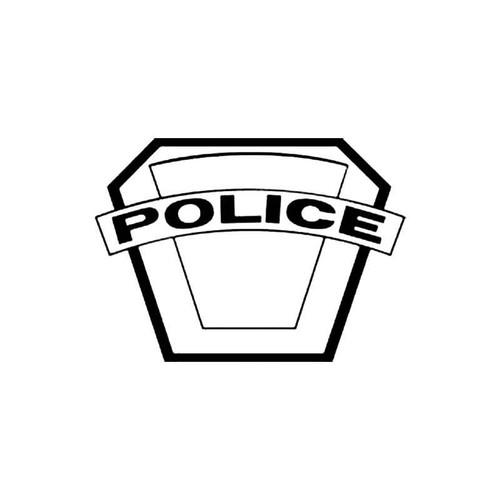 Police Shield E S Decal