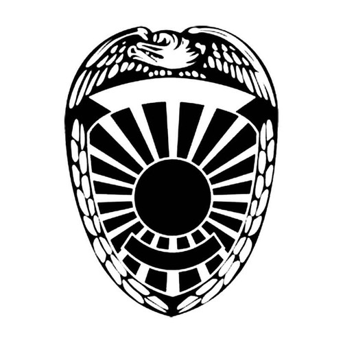 Police Shield F S Decal
