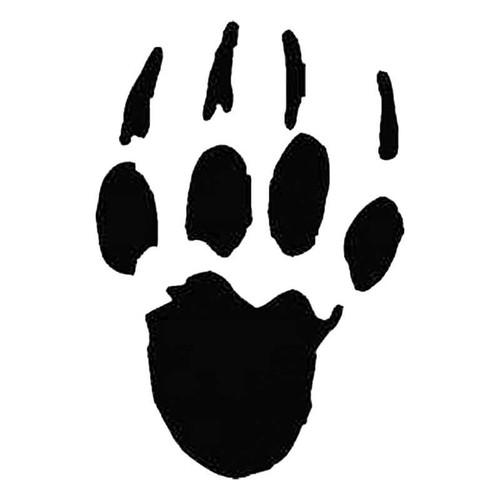 Porcupine Paw Print Tracks S Decal