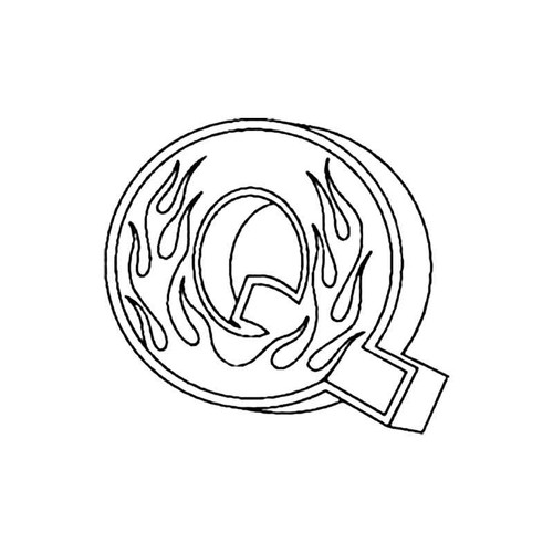 Q Flames Letter S Decal
