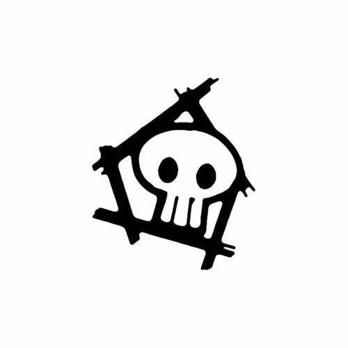 Skull Pendant  Vinyl Decal Sticker  Size option will determine the size from the longest side Industry standard high performance calendared vinyl film Cut from Oracle 651 2.5 mil Outdoor durability is 7 years Glossy surface finish
