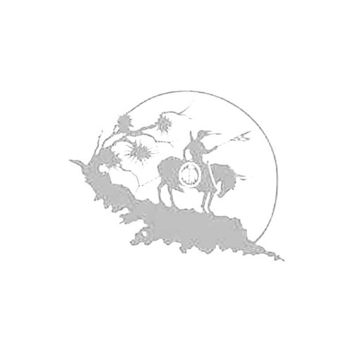 Red Indian On Horseback S Decal