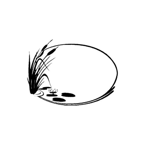 Reed And Lily Pond S Decal