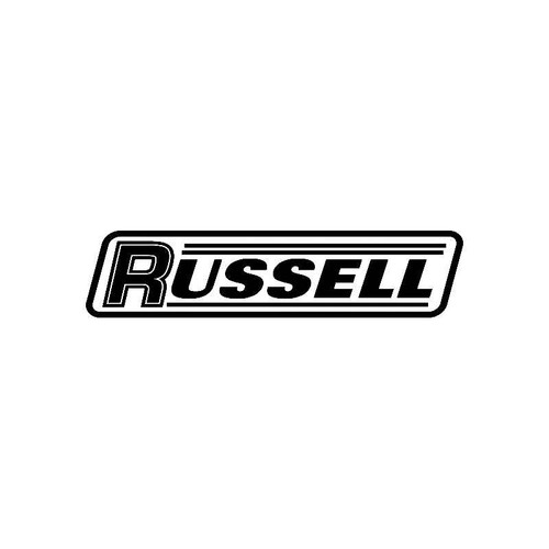 Russell Logo Jdm Decal