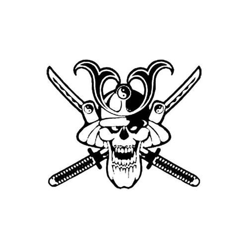 Samurai Skull S Decal