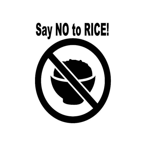 Say No To Rice! Jdm Jdm S Decal