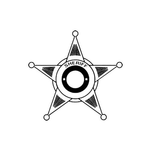 Sheriff Shield B S Decal