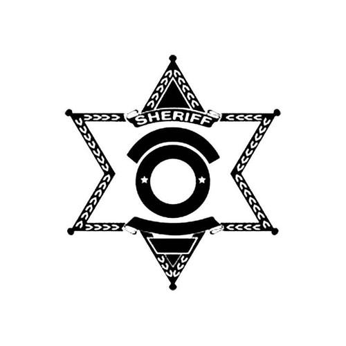 Sheriff Shield C S Decal