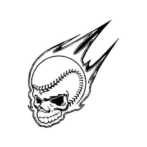 Skull Baseball S Decal