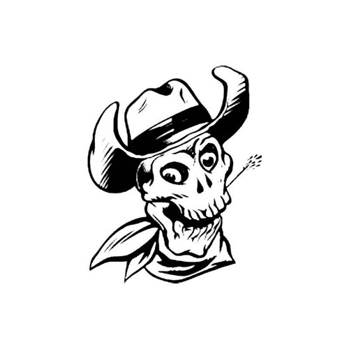 Skull Bd S Decal