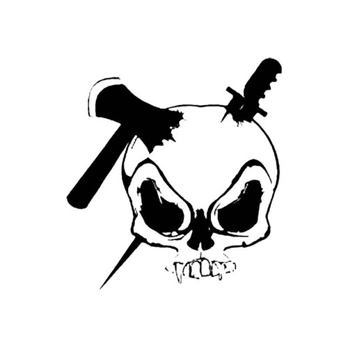 Smashed Skull S Decal